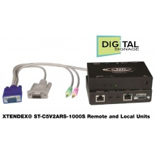 VGA Video Extender - Opsiyonel Ses veya RS232 - 304 metre - Catx