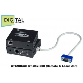VGA Video Extender - Opsiyonel Ses veya RS232 - 182 metre - Catx